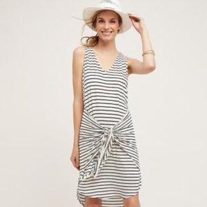 Anthropologie Dolan Striped Tie-Front Dress